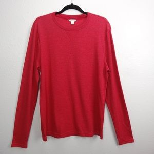 Aeropostale Mens Shirt Thermal Red Waffle Size L